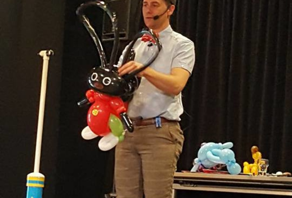 The Bowtie Balloon Guy Is A Real Hit At A Balloon Twisting Convention In Amsterdam.